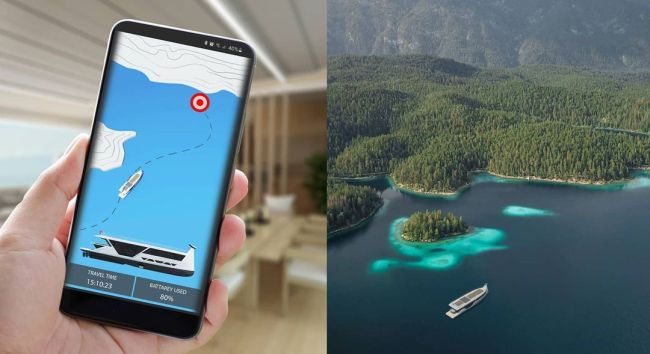 AI-Enabled, Smartphone-Controlled Self-Driving Superyacht - Drakkar S