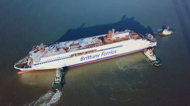 Brittany Ferries Salamanca takes to the water
