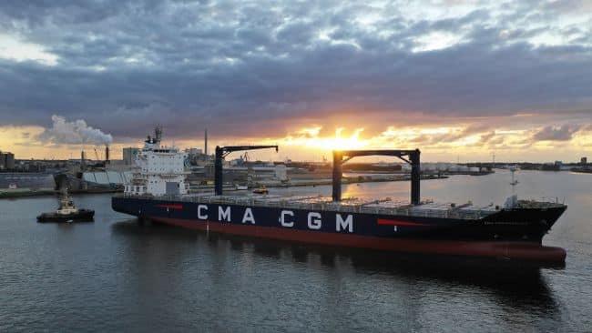 CMA CGM ship at damen shiprepair & conversion