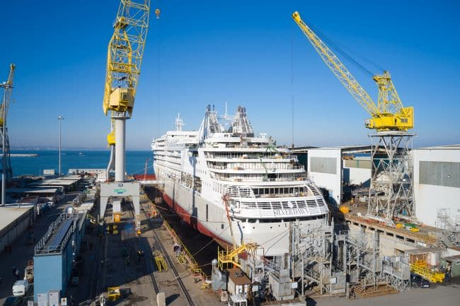 Fincantieri Floats Out 10th Ship In Silversea's Fleet 'Silver Dawn' In Ancona