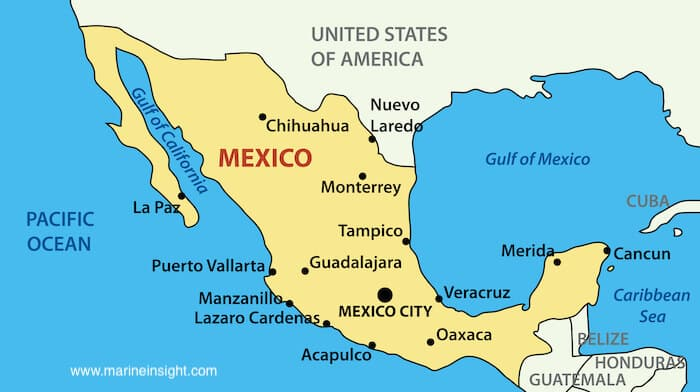 map of gulf of mexico
