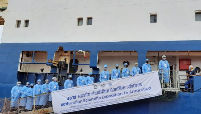 India Sends Half Scientific Team for 40th Antarctic Expedition in Times of COVID