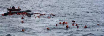 Refugees sink