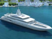 Sustainable superyacht concept illustration