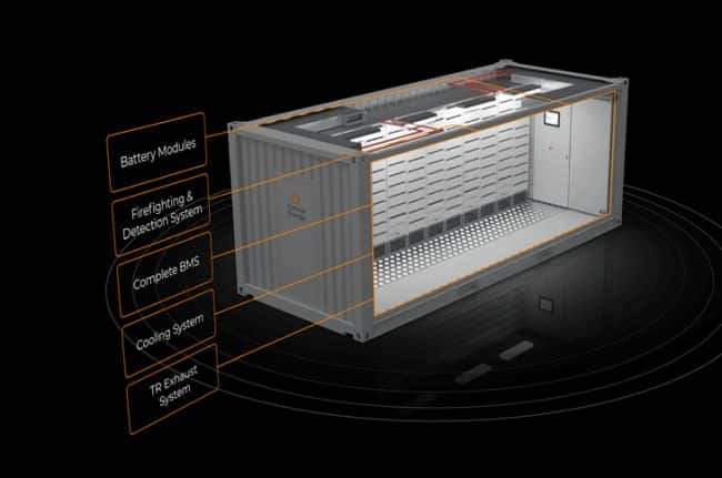 The Corvus BOB is a complete energy storage system (ESS) and class-approved, modular battery room solution available in 10-foot and 20-foot container sizes