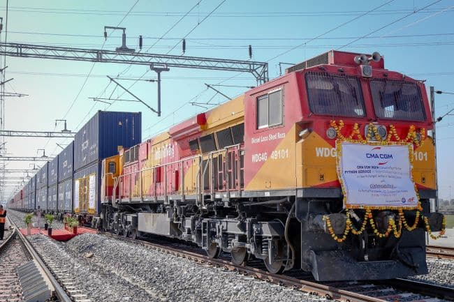 CMA CGM India Introduces The First Shipping Line Dedicated Python Train Service