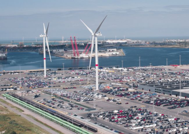 NYK Subsidiary Begins Wind Power Generation at Finished-Vehicle Logistics Terminal in Belgium