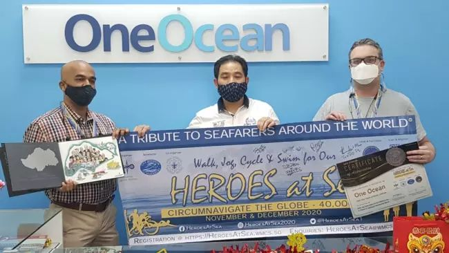 OneOcean joined other participants in pledging to cover a minimum distance of 10km per person by either walking, jogging, cycling or swimming