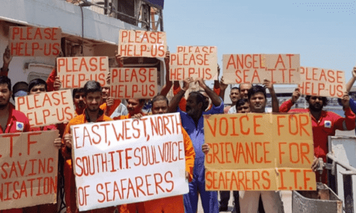 Seafarers on hunger strike