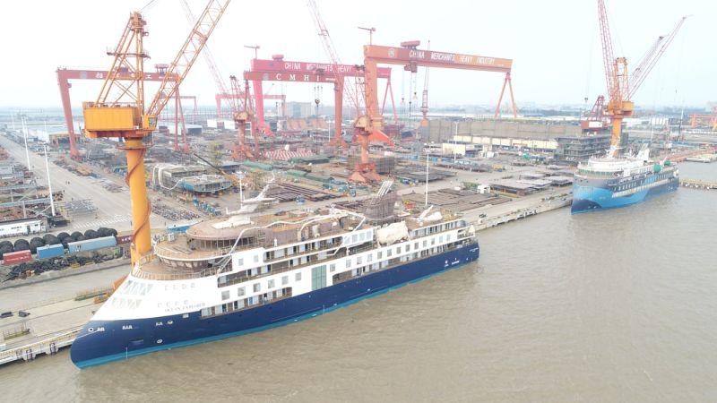 Sunstone ship at CMHI Ship building yard
