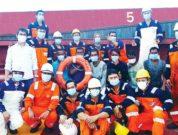 Team Sagar Shakti with the rescued seafarers