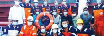 Team Sagar Shakti with the rescued seafarers
