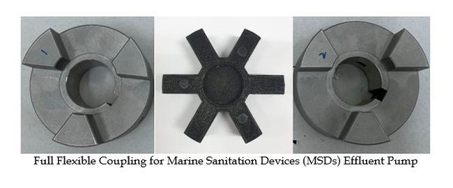 full flexible coupling for MSDs effluent pump