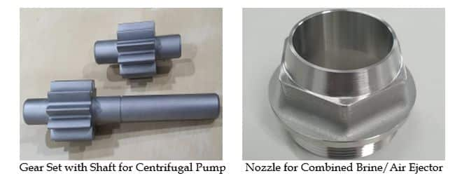 gear set with shaft for centrifugal pump