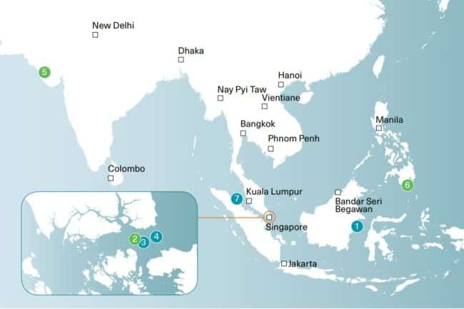 location of 7 Incidents Of Armed Robbery Against In Asia In January 2021 -