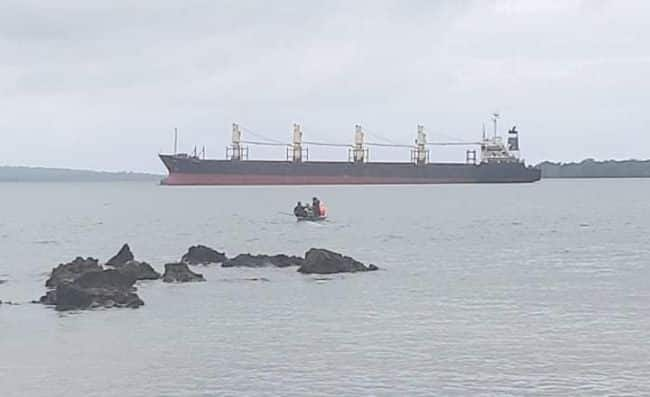 oil spill reports on MV QUEBEC