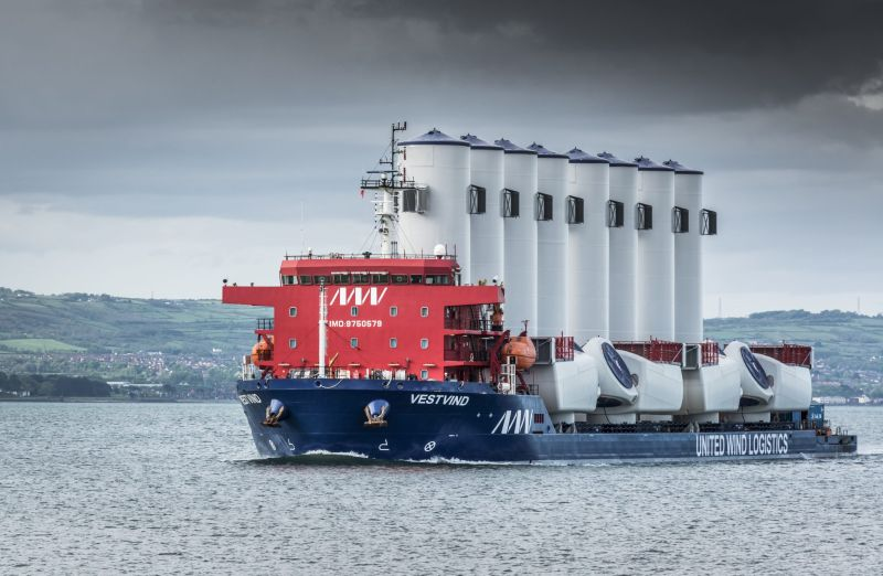 united wind logistics - vestwind - Module deck carrier VestVind will be able to increase its operational window with ABB software