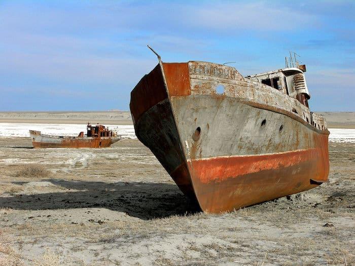 Aral sea drying