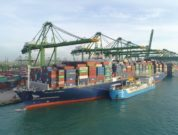Asia's First Ship-To-Containership LNG Bunkering Undertaken By CMA CGM And FueLNG