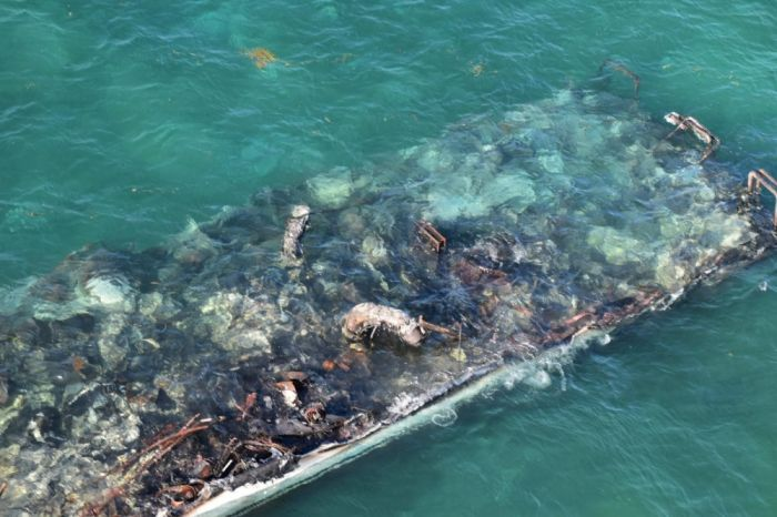 Coast Guard oversees diesel spill clean-up near Marquesas after yacht fire -