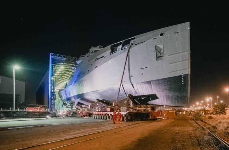 DSCT launches SA Navy's first Multi-Mission Inshore Patrol Vessel