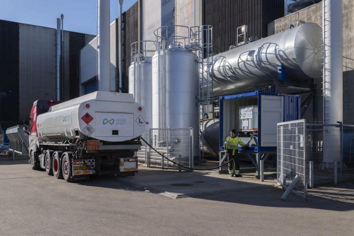 Delivery of methanol at the Alfa Laval Test & Training Centre