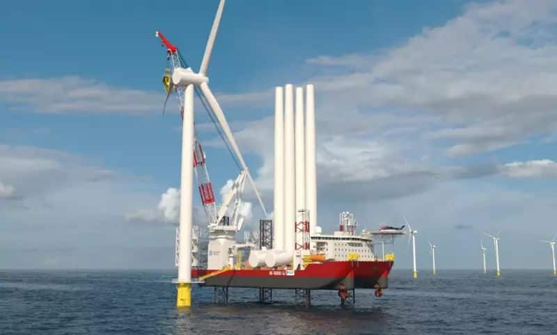 Dominion Energy's new Wind Turbine Installation Vessel, due for delivery by the end of 2023