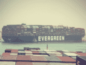 Ever Given ran aground on 23 March and continues to block the Suez Canal.