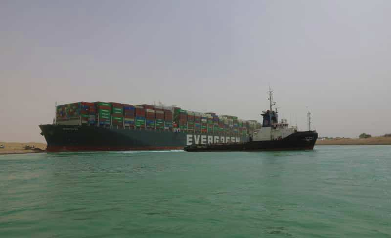 Evergreen Lines Ever Given Grounded In Suez Canal