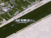Evergreen Lines Ever Given Grounded In Suez Canal - Airbus Space