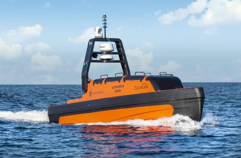 Kongsberg Maritime Sounder USVs (Unmanned Surface Vehicles) and two KONGSBERG AUVs (Autonomous Underwater Vehicles