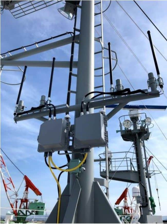 Installed Antenna & Router on the vessel