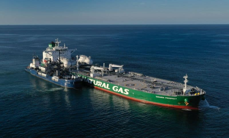 Sovcomflot Snd Shell Complete First Ever LNG Aframax Tanker Fuelling In USA