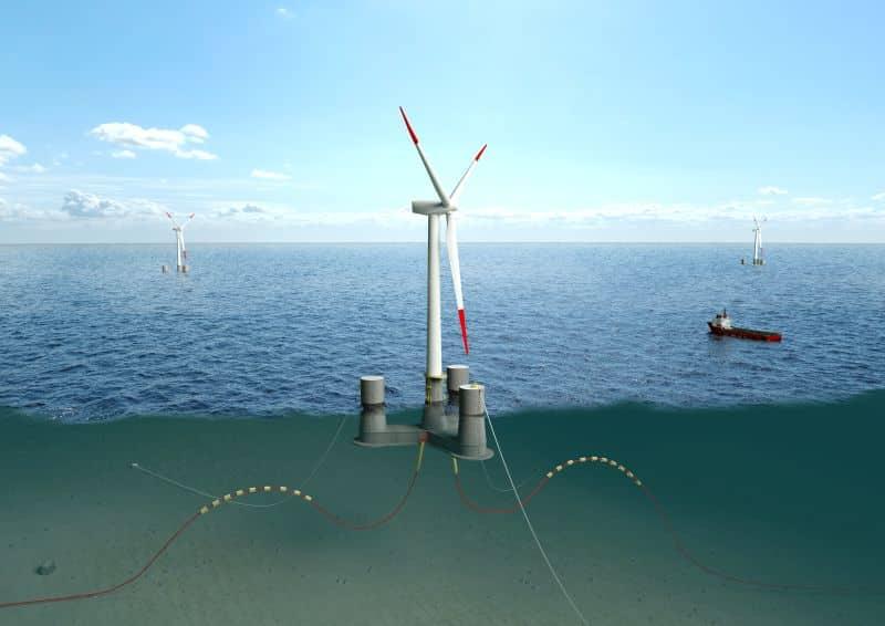 Tripod OO Star Wind Floater Illustration by Dr.techn. Olav Olsen AS