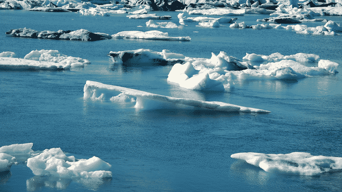 melting ice cover