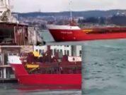 Cargo Ship Nearly Crashes Into Bosphorus Waterfront Mansion