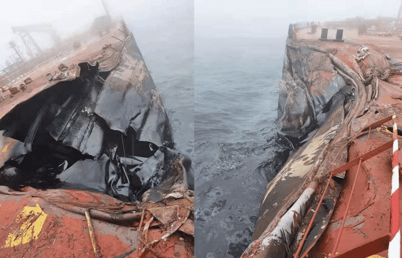 tanker vessel 'A Symphony' and the Bulk Carrier 'Sea Justice' were the 2 ships involved in the accident
