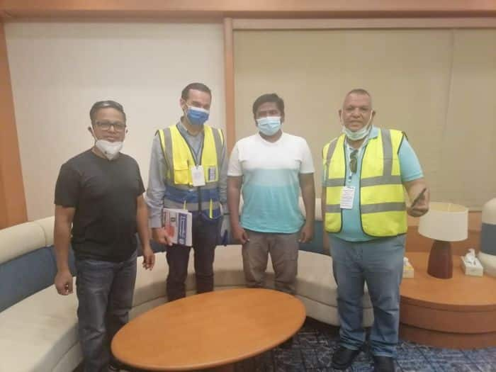 Ever Given Crew Meets Visitors Indian Seafarers Union