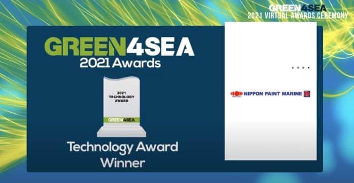 Green4sea award nippon marine paint