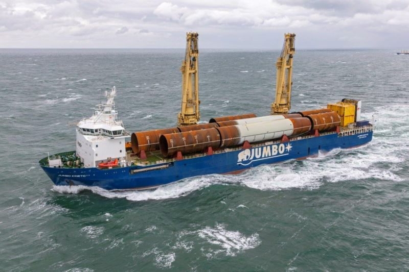 Jumbo Kinetic carrying monopiles for Yunlin Offshore Wind Farm