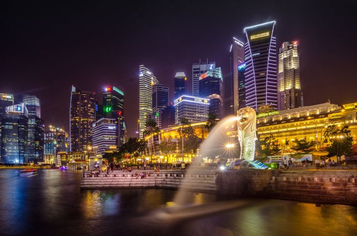 Singapore's Lion fountain - Maritime Representation