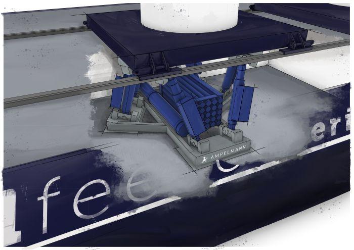 Wind feeder vessel close view motion compensator - Ampelmann & C-Job Naval Architects