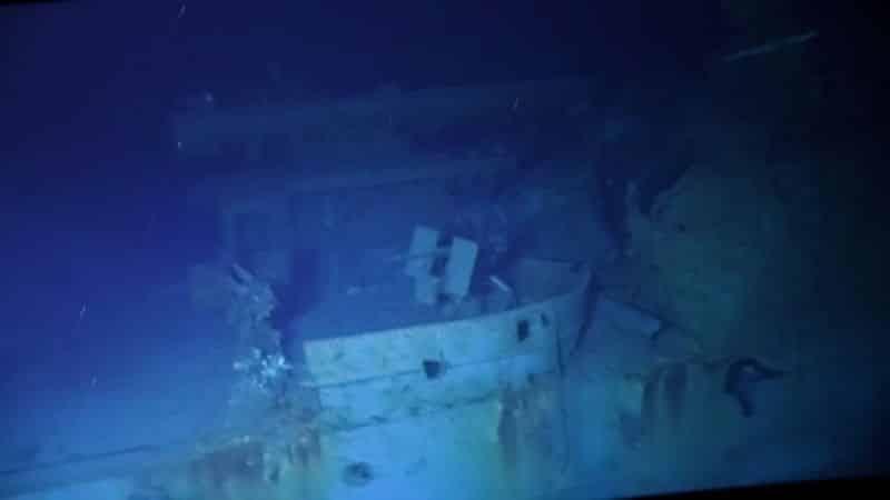World War 2 US Navy destroyer ship USS Johnston