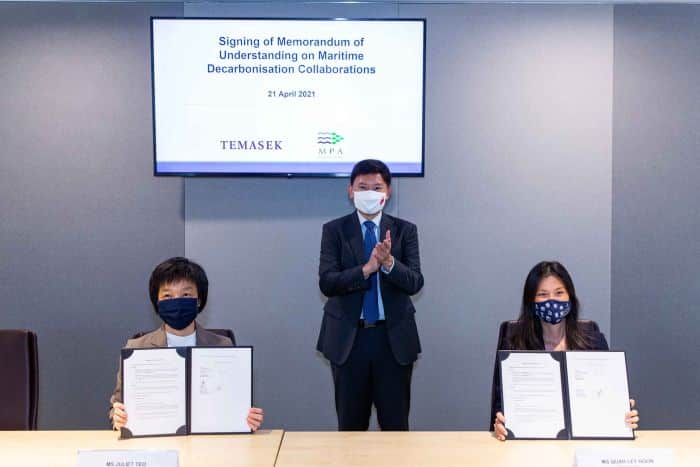 Memorandum of Understanding with Temasek to collaborate on opportunities in the area of maritime decarbonisation.