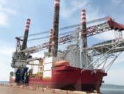 the SEP vessel Seajacks Zaratan at the Port of Akita
