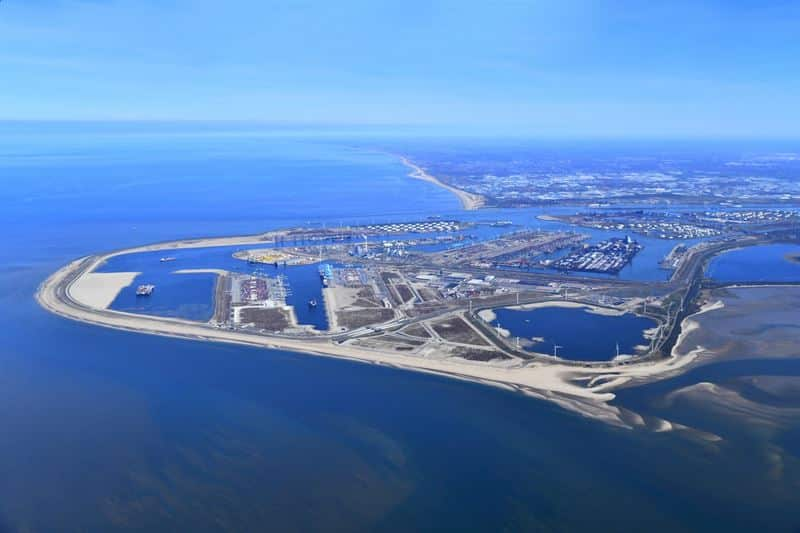 Aerial photo of Maasvlakte, Port of Rotterdam