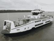 BC Ferries' Third Island Class Hybrid Diesel-Electric Ferry Departs Shipyard