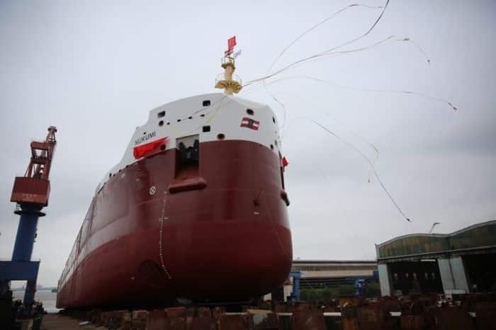 CSL Salt ship launching