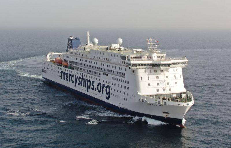 Global Mercy Sea trial Photo Stena RoRo