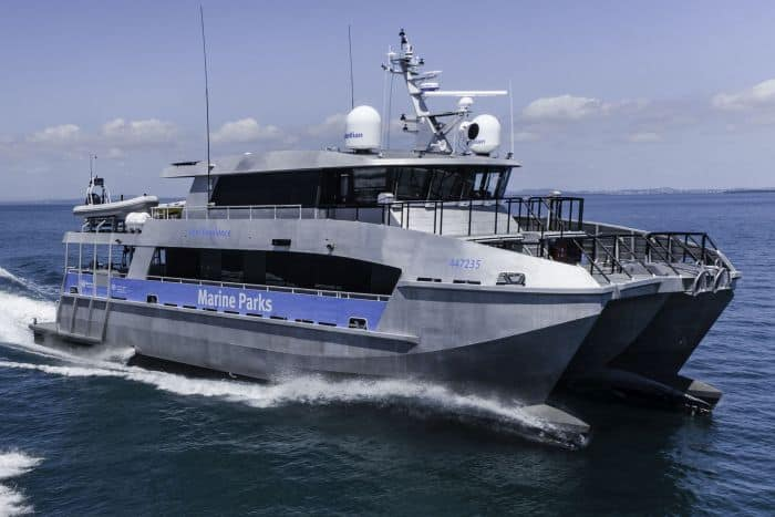 Incat Crowther Launches New Generation Patrol Boat To Protect The Great Barrier Reef -